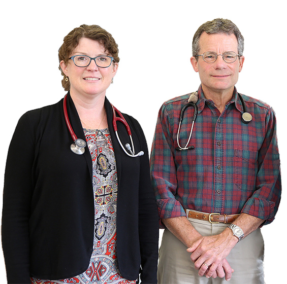Dr. Barry Clark and Kate Abadi, PA-C, Doctor and Physician Assistant